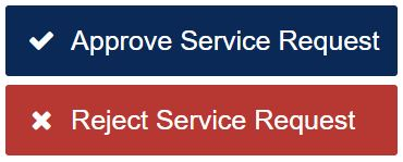 Image of approve and reject buttons