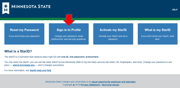 Sign into Profile